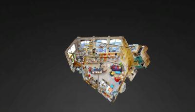 Léopold Café Presse Bara 3D Model